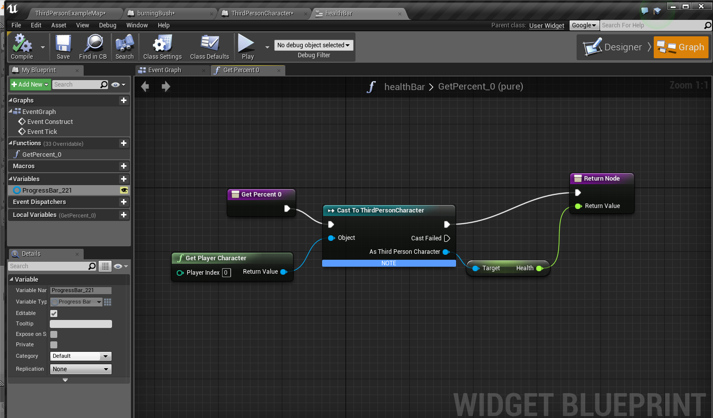 Intro to UMG (Unreal Motion Graphics) Widgets – game design class
