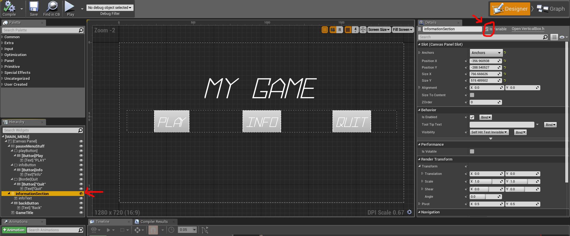 Making An Intropause Menu Game Design Class Examples - Game menu design